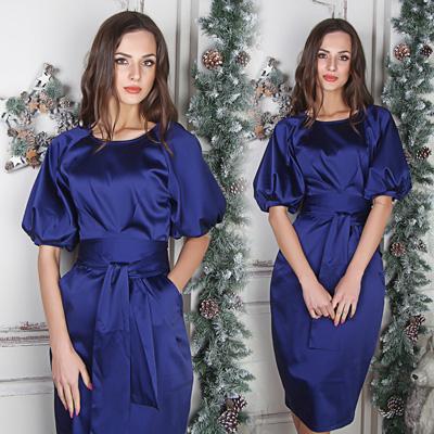 Какой макияж к синему платью 13