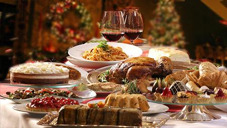 Новогодний стол фото